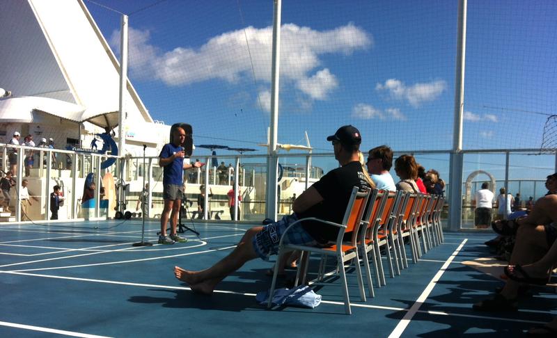 my running seminar aboard the cruise ship